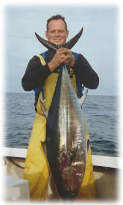 Tuna caught fishing with connecticut charter fishing